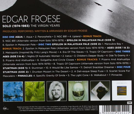Edgar Froese The Virgin Years