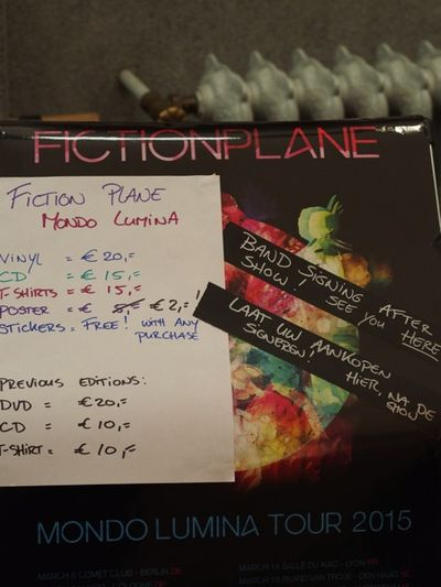 Fiction Plane Tour 2015