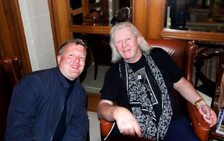 Chris Squire et Sébastien Buret au Grand Rex de Paris en mai 2014