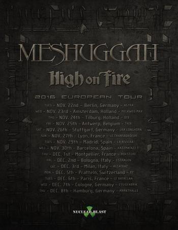 Meshuggah Tour 2016