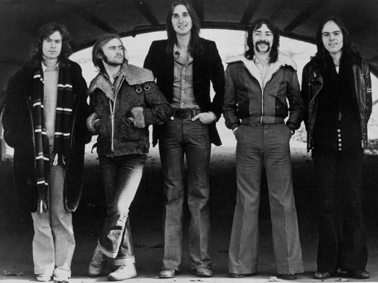 Genesis-band with Peter Gabriel